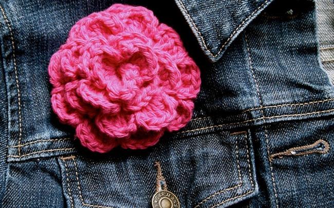crochet flower pattern - simple