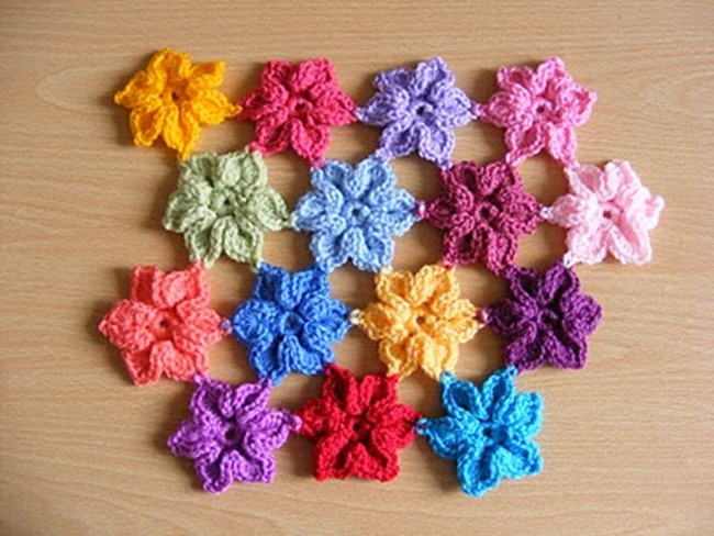 crochet flower pattern - star flower