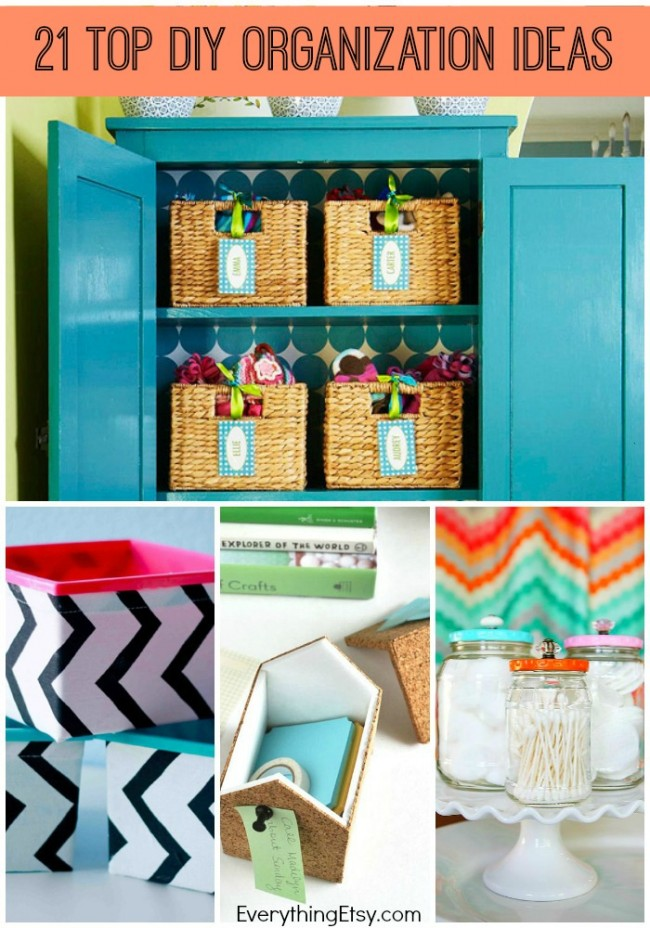 21 Top DIY Organization Ideas - time to get organized - EverythingEtsy.com