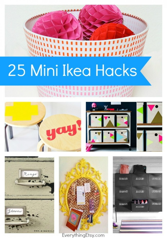 25 Mini Ikea Hacks {Quick and Easy Tutorials}...make awesome stuff in minutes! ) on EverythingEtsy.com