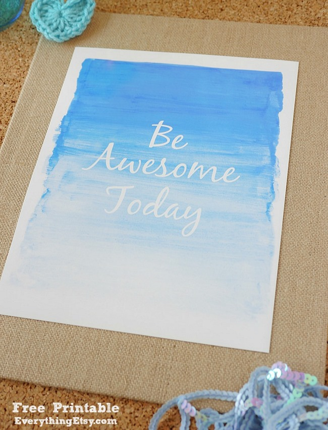 Be Awesome Today - Quote Printable on EverythingEtsy.com