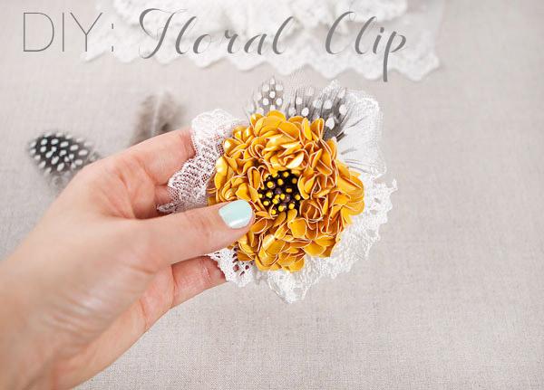 DIY Hair Accessories - Amazing Flower