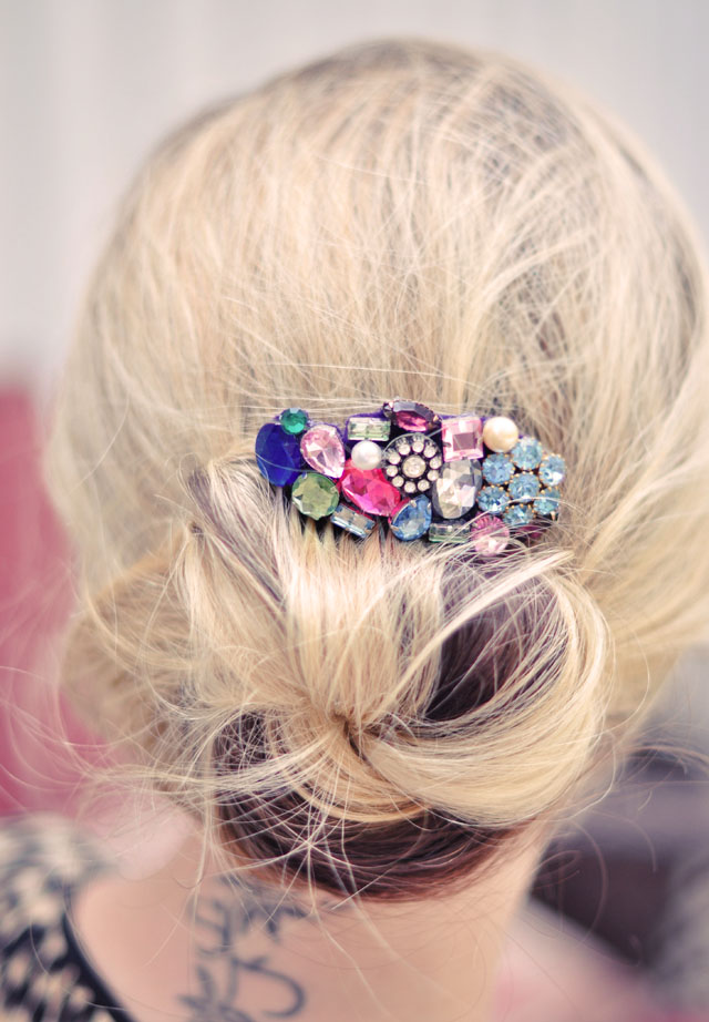 DIY Hair Accessories - Bejeweled