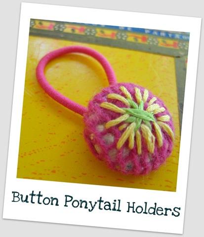 DIY Hair Accessories - Button Ponytail Holder