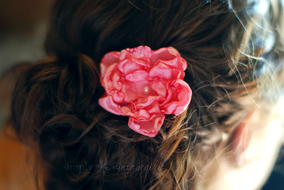 DIY Hair Accessories - Flower Hair Accessory
