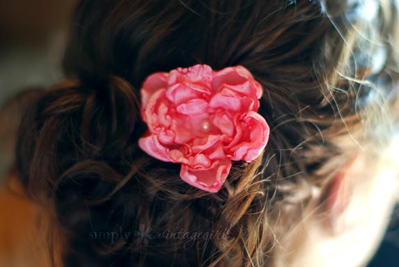 DIY Hair Accessories - Flower Hair Accessory