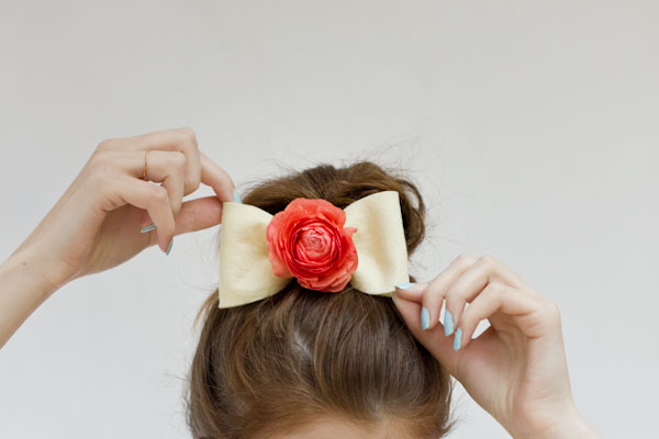 DIY Hair Accessories - Fresh Flower Bow