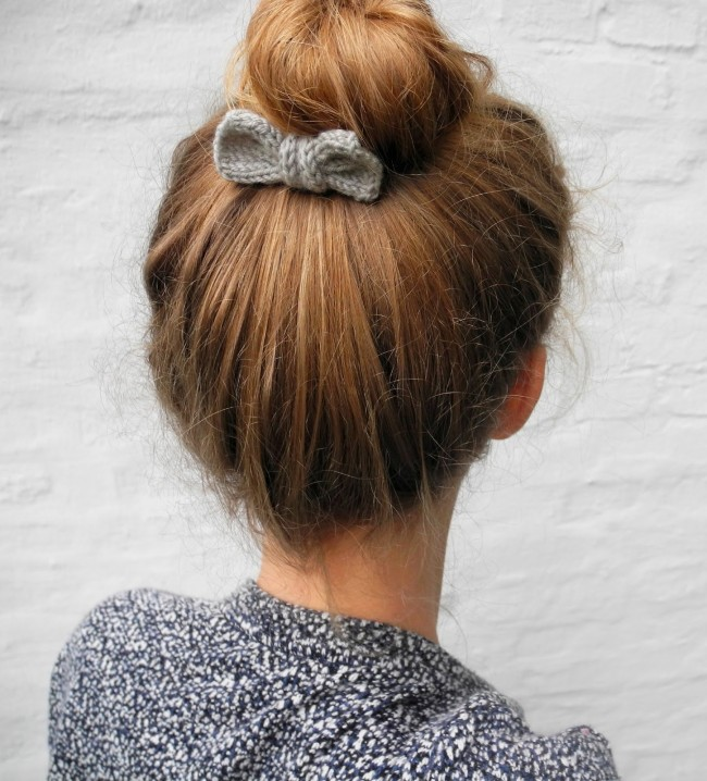 DIY Hair Accessories - Knit Bow Pattern