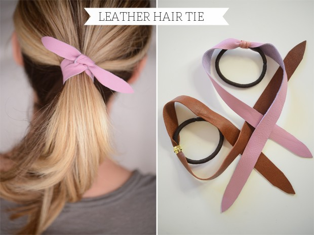 DIY Hair Accessories - Leather Tie