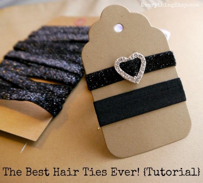DIY Hair Accessories - The Best Hair Ties Ever