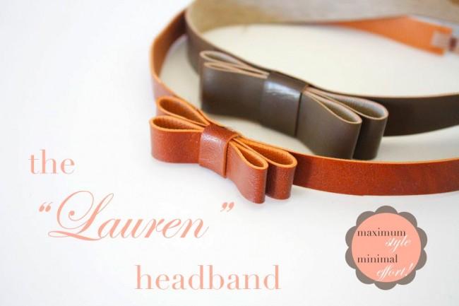 DIY Hair Accessories - The Lauren Leather Headband