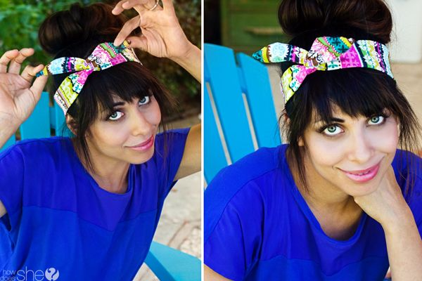 DIY Hair Accessories - perfect head scarf