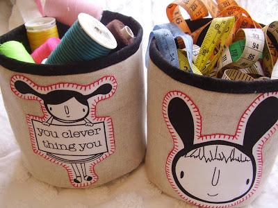 DIY Organize - Fabric Buckets
