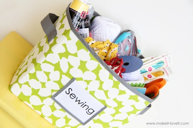 DIY Organize - fabric storage boxes