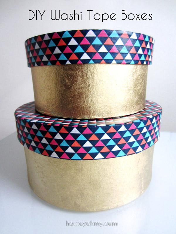 DIY organize - Washi-Tape-Boxes