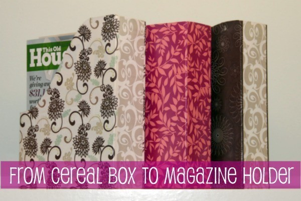 DIY organize - cereal box