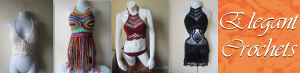 crochet dresses, halter tops, sweaters, Ponchos, shawls