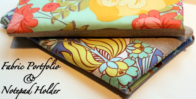 Gifts to sew - fabric notebook cover