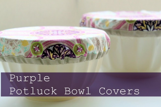 Gifts to sew - potluck bowl cover