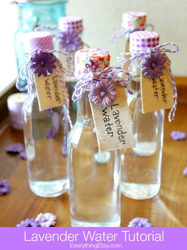 Lavender Water Tutorial - Easy and smells amazing! l EverythingEtsy.com