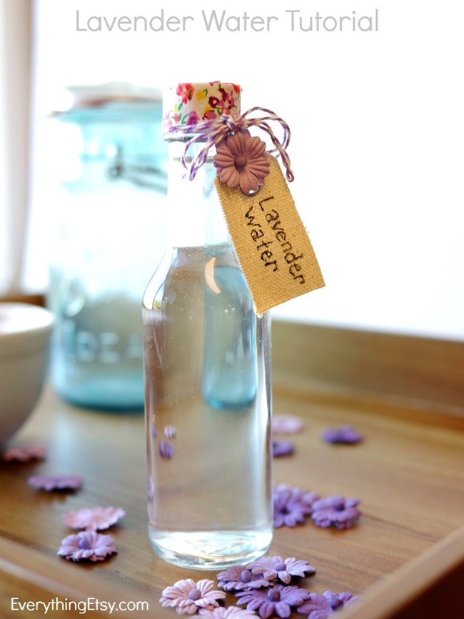 Lavender Water Tutorial on EverythingEtsy.com  Easy DIY gift idea!
