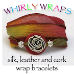 Whirly Wraps~ Silk and Leather Bracelets