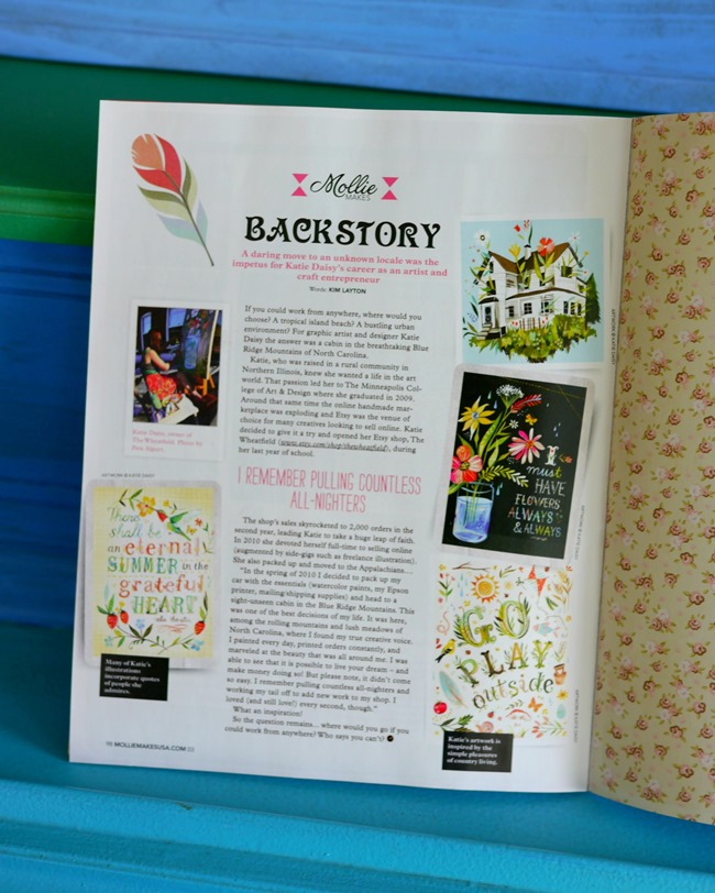 Mollie Makes Magazine Etsy Backstory by Kim Layton - EverythingEtsy.com