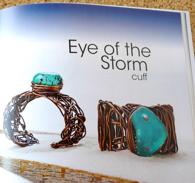 Organic Wire and Metal Jewelry - eye of the storm
