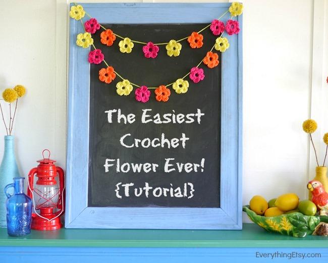 The Easiest Crochet Flower Ever! {Tutorial} - EverythingEtsy.com