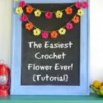 The Easiest Crochet Flower Pattern Ever!