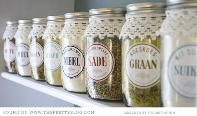 diy organize - pantry labels