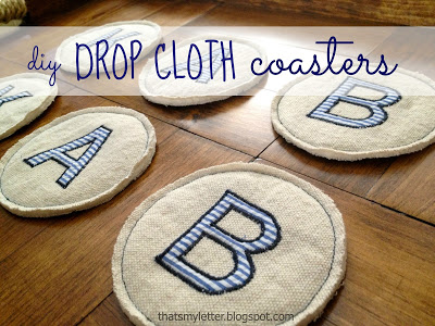 gifts to sew - drop cloth coasters