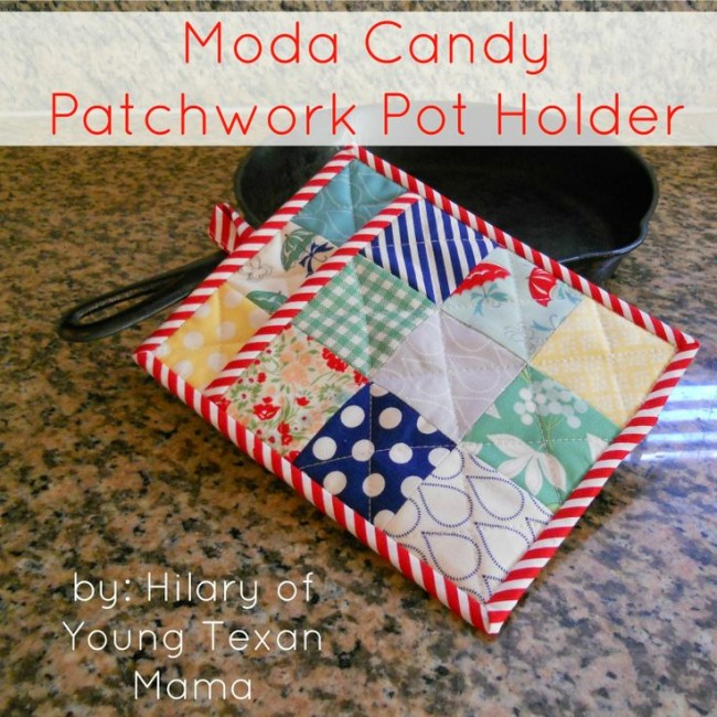gifts to sew - patchwork pot holder