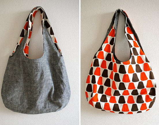 gifts to sew - reversible geometric bag