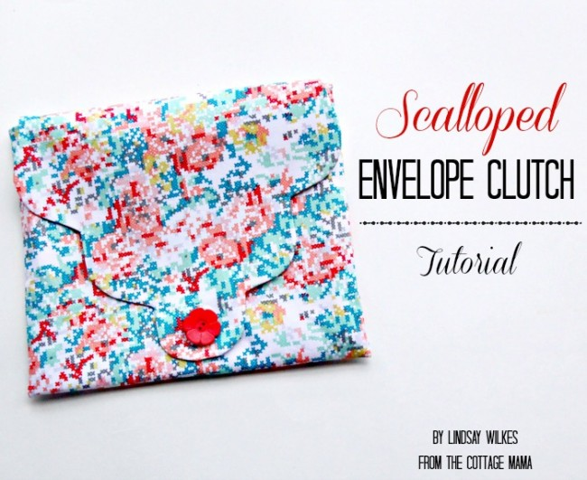 gifts to sew - scalloped clutch