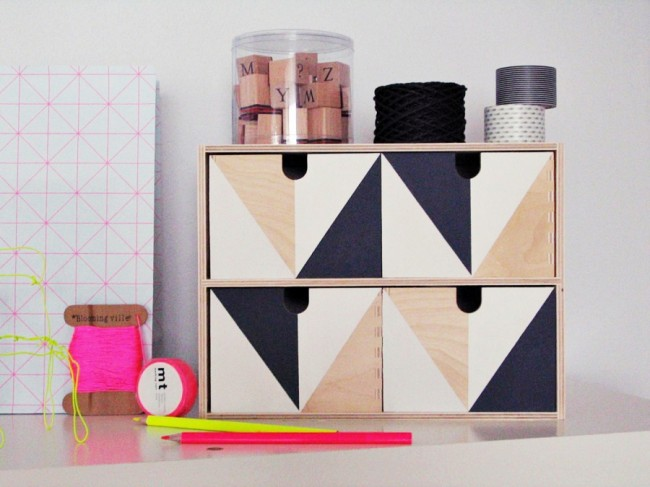 Color Block Mini Drawers