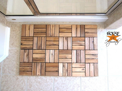 Wood Spa Bath Mat