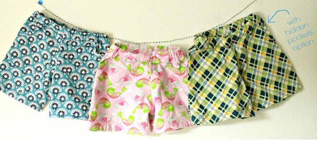 simple shorts by freshly completed