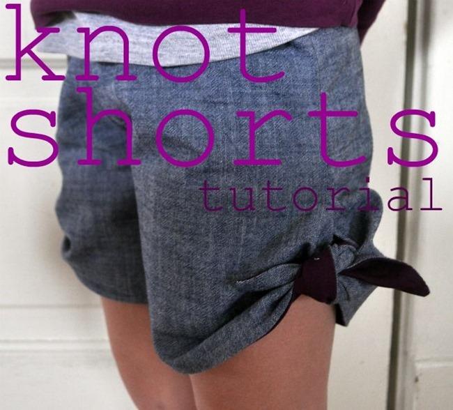 Diy lace shorts no sew