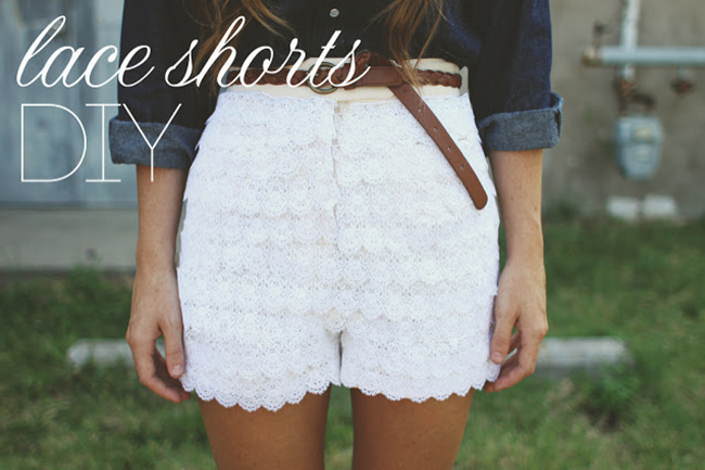 simple shorts - lace