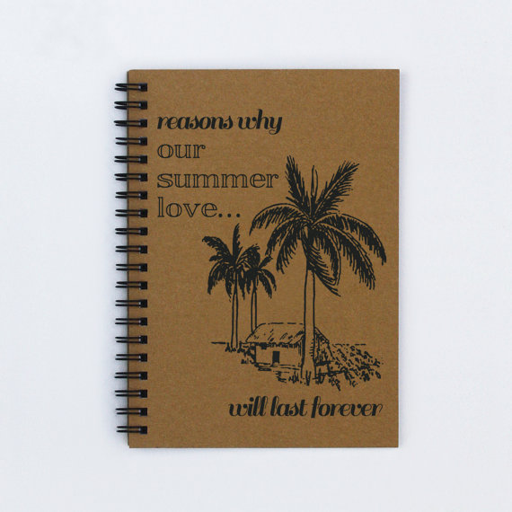 summer on etsy - summer notebook