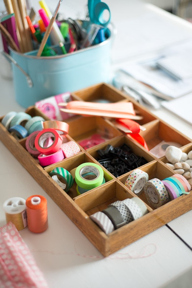 washi tape - organized 1