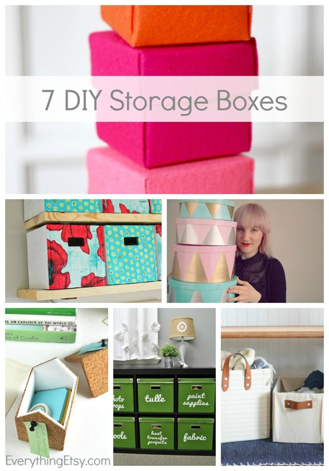 7 DIY Storage Boxes...a creative way to organize and save money! EverythingEtsy.com