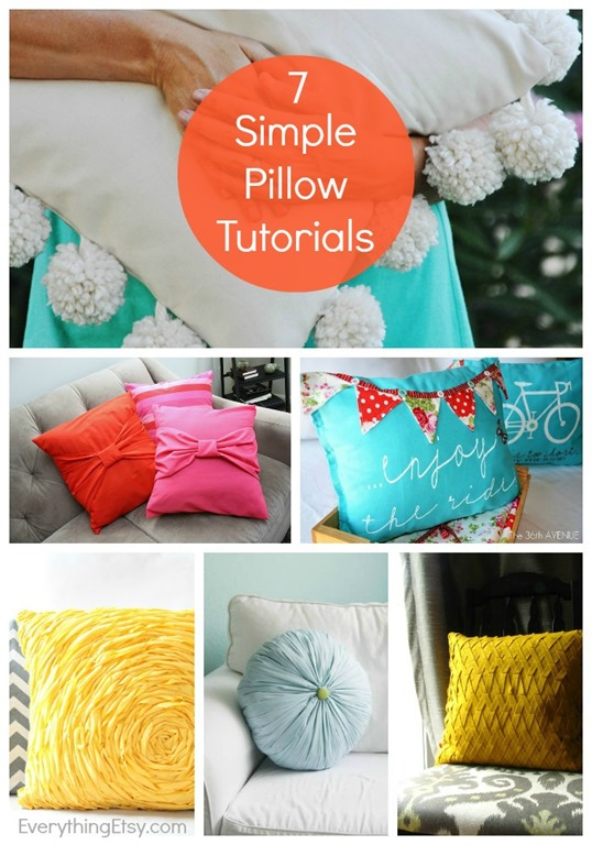 7 Simple Pillow Sewing Tutorials