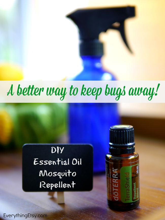 DIY Essential Oil Mosquito Repellent l A better way to keep bugs away! l EverythingEtsy.com