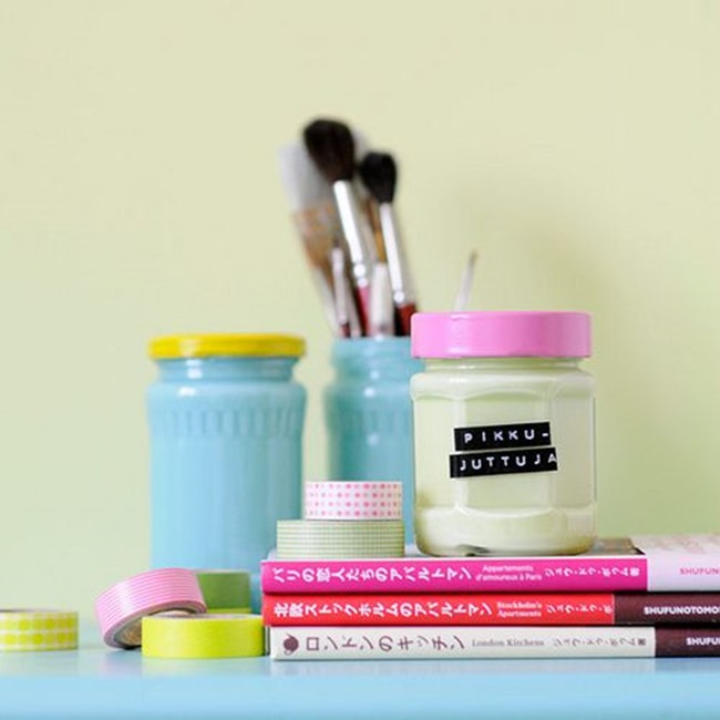 craft room ideas - jars