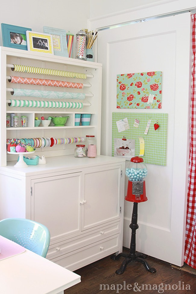 craft room ideas - wrapping station