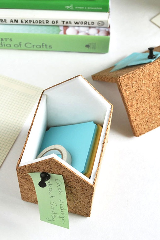 diy storage containers - cork
