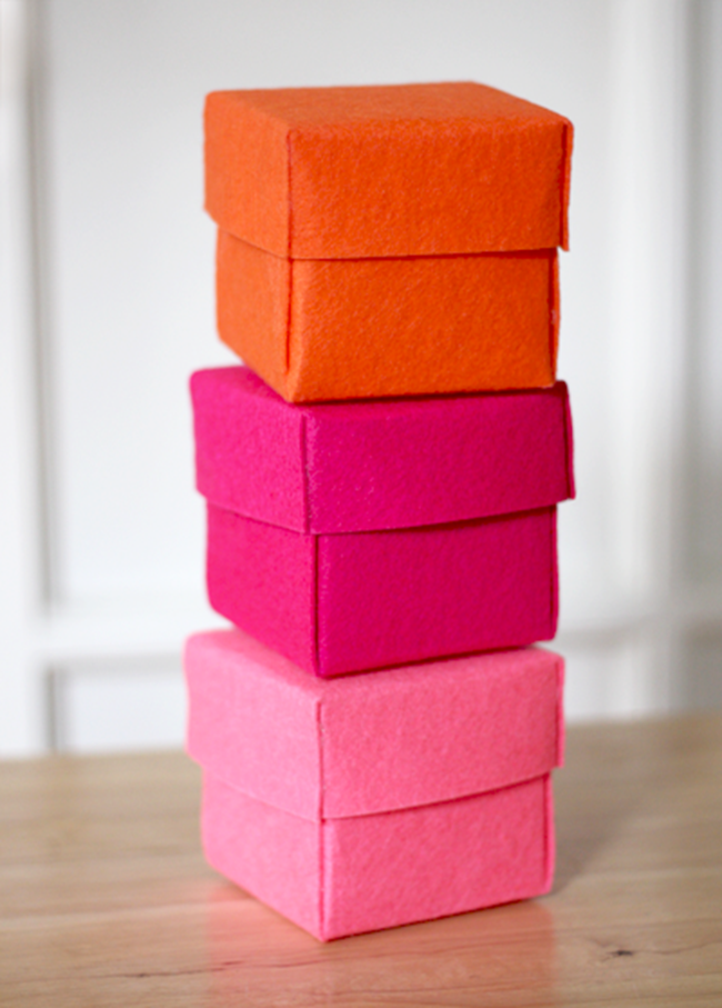diy storage containers - felt