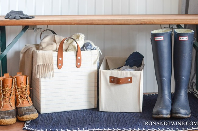 diy storage containers - leather